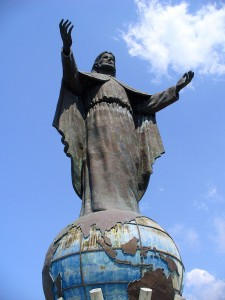 Statue of Christ outside Dili
